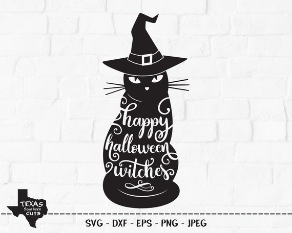 Happy Halloween Witches Svg Cut File Halloween Shirt Design Etsy