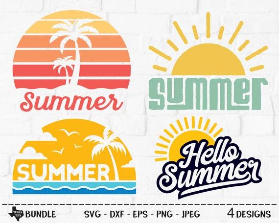 Summer Bundle Svg Cut Files Vacation Shirt Designs Etsy