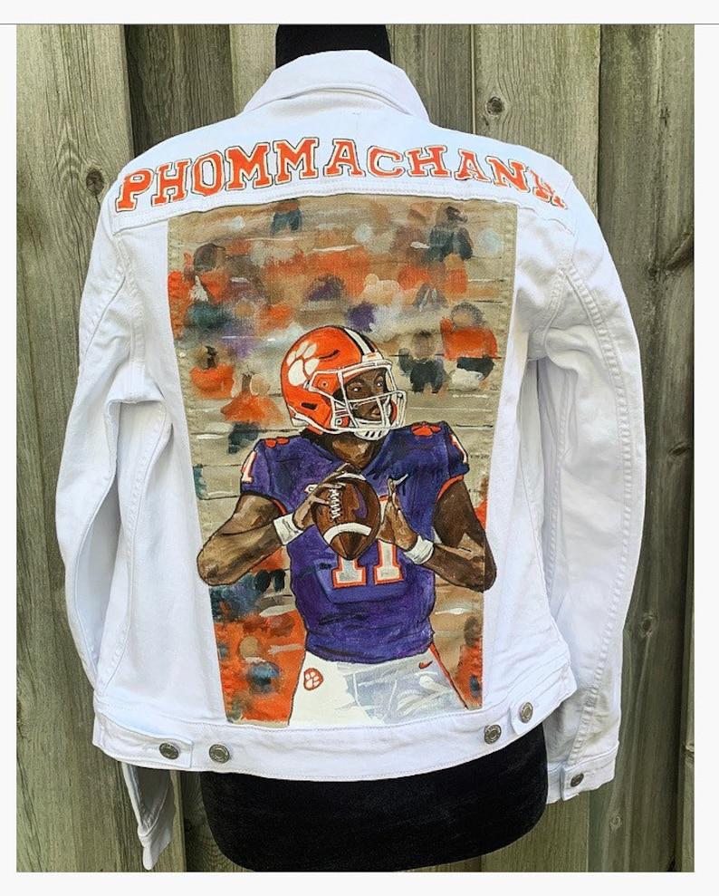 hand painted football  player jackets deposit  Football baseball soccerbasketballetc.