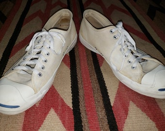 d2ffad48741c Vintage 80s 90s Jack Purcell Converse Made in USA Canvas sneakers shoes Rare  sz Mens 12