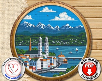 SWISS FOLKIES COUNTED CROSS STITCH KIT Riverdrift House Switzerland Heidi