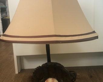 Vintage Baseball Lamp with shade