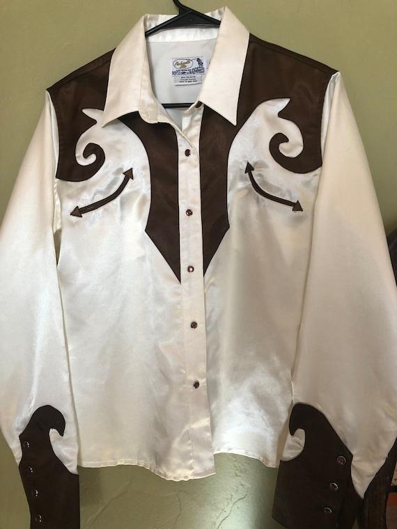 Women's Satin Western Shirt