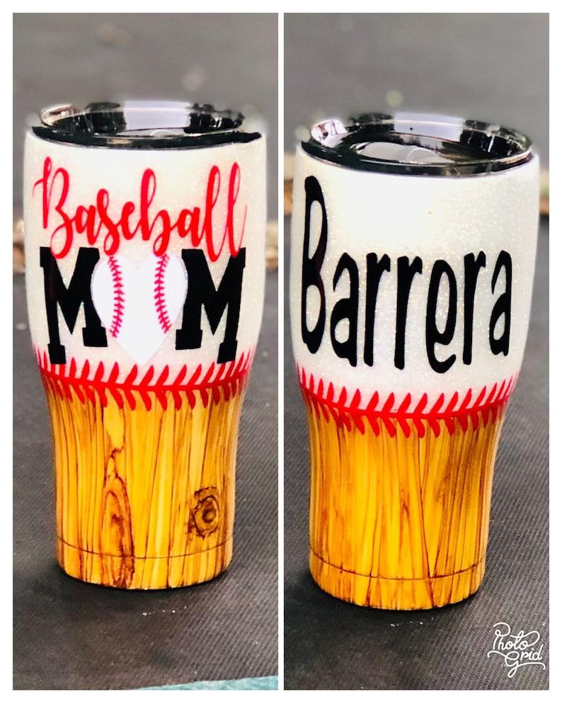 Custom Baseball or Cheer Mom Sports Team Cup Glitter Cheer Mom Tumbler Personalized Baseball Or CheerTumbler Glitter Baseball Cup