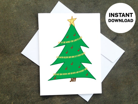 Printable Christmas Card Make Your Own Cards At Home Etsy