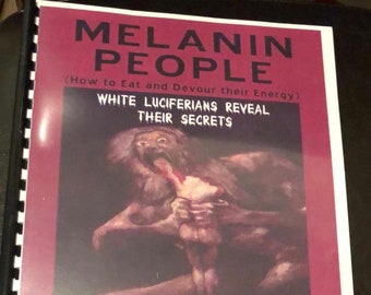 Melanin People Book by Bobby Hemmitt - Spirituality Book - Vintage Occult Book - Magick Book - Occult Craft Book - BOOK OF SHADOWS
