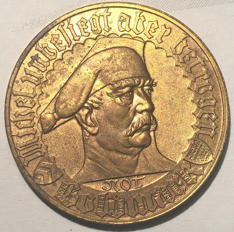 Notm\u00fcnze 1923 Germany Token Stadt Bielefeld 1 Not-Goldmark Notgeld