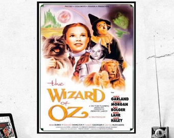 The Wizard of Oz Classic Movie Poster Art METAL Print Plaque Gift