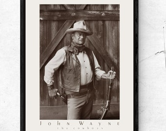 John Wayne Marion Mitchell Morrison Signed Autographed A4 Print Photo Western
