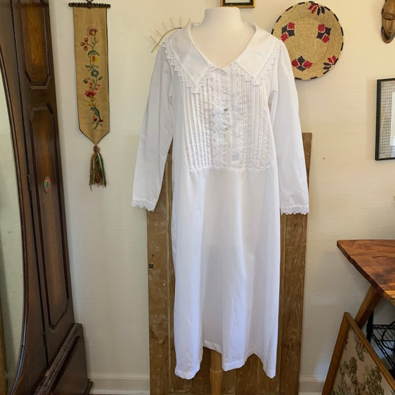 Vintage Victorian style white nightgown