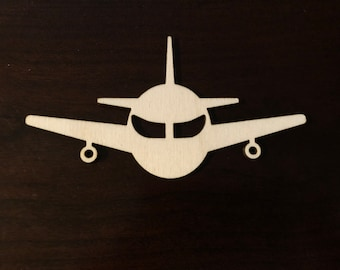 Airliner Cutout Plane Jumbo Jet Airplane Laser Cut Out Wood Shape Craft Supply