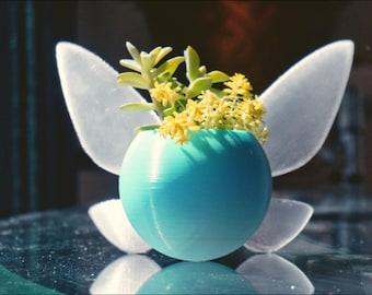 Navi Fairy Planter, Succulent Plant Pot, Mother's Day Gift, Plant Pot Desk Decor, Fairy Jar, Cute Succulent Pot- Legend of Zelda