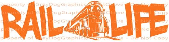 Rail Life Vinyl Decal Railroad Worker Skull Hardhat Train Sticker Car Locomotive