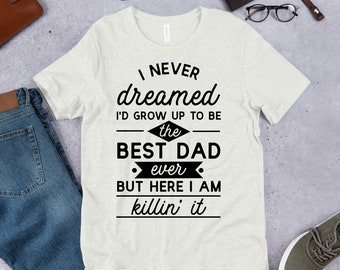 ae03107f5b Items similar to SALE - Pins & Bones Funny Dad Shirt, Best Dad Ever ...