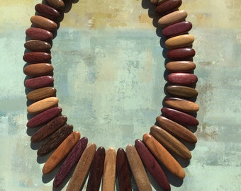 Wooden Bracelet Jewellery Women Amanda Multicolor Handmade Costa Rica Wood Chain