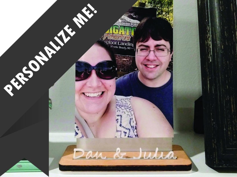 Custom Personalized Wood Photo Stand / Wood Picture Holder / image 0