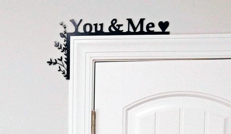Couples Door Topper / Over The Door Sign / Cabinet Topper / image 0
