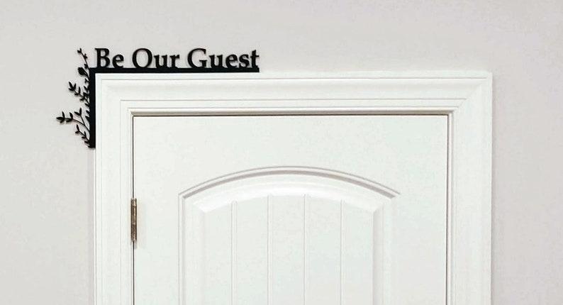 Guest Room Door Topper / Over The Door Sign / Guest Room Sign image 0