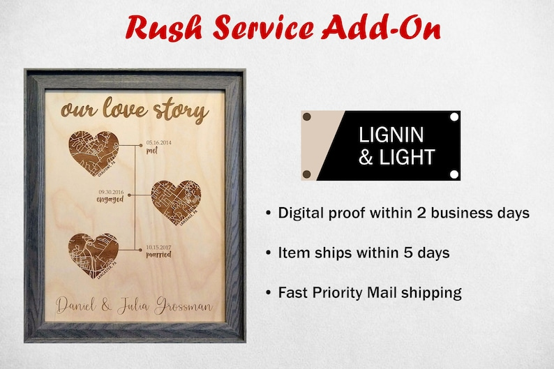 Rush Service Add-On for Lignin & Light Personalized Orders image 0