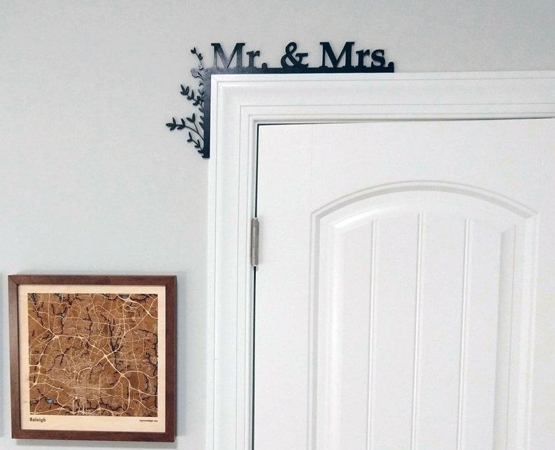 Couples Door Topper / Over The Door Sign / Cabinet Topper / Mr image 0