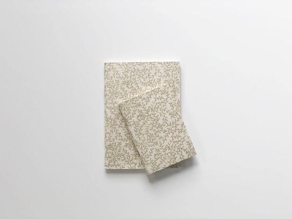 Handmade paper notebooks (2 books) | Gold Fern
