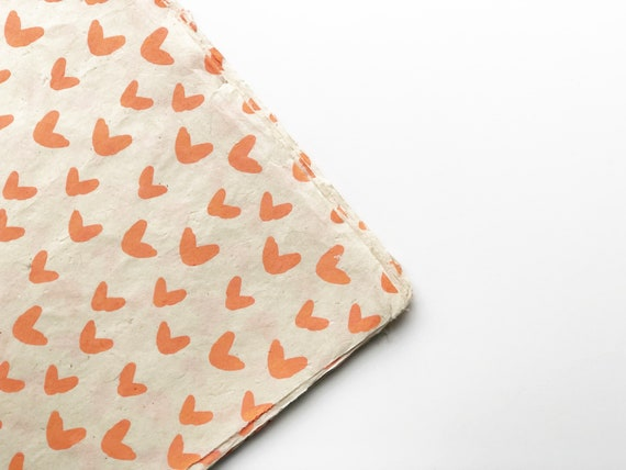 Gift wrapping paper (2 sheets) | Sweet Hearts