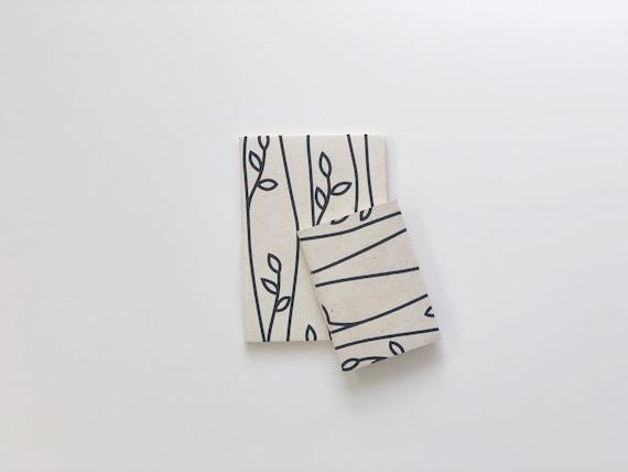 Handmade paper notebooks (2 books) | Botanicals D3