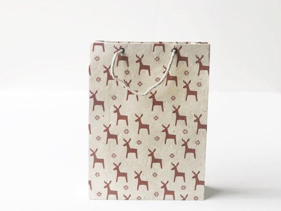 Christmas Gift Bag (2 bags) | Reindeers