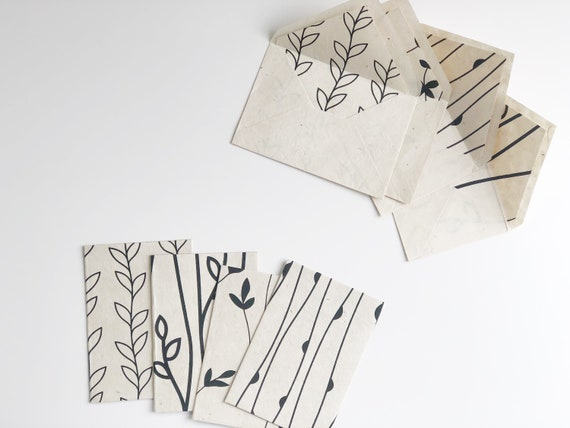 Greeting Card Set with Matching Envelopes | Botanicals