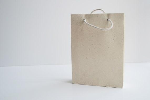 Handmade paper gift bag (4 Bags) | Natural Beige