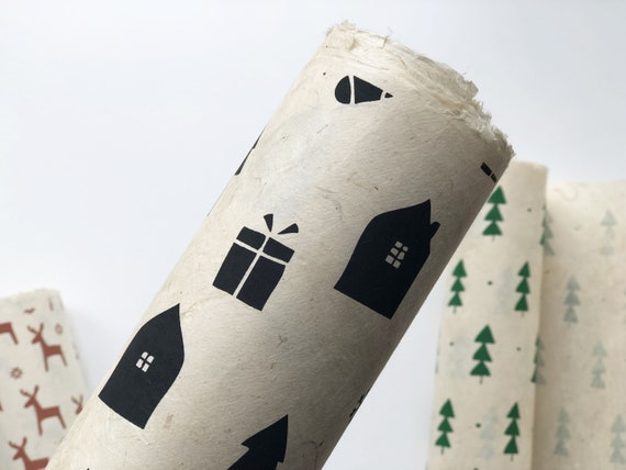 2 Sheets of Christmas Gift wrapping paper | Christmas Night
