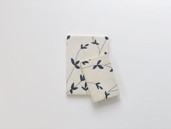 Handmade paper notebooks (2 books) | Botanicals D4