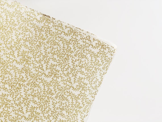 Gift wrapping paper (2 sheets) | Gold Fern