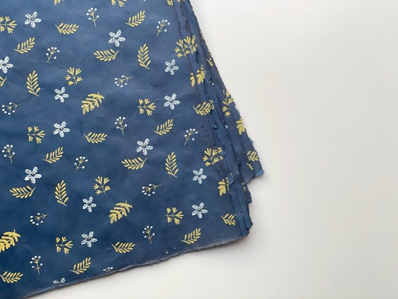 Gift wrapping paper (2 sheets) | Nagarjun - Indigo Blue