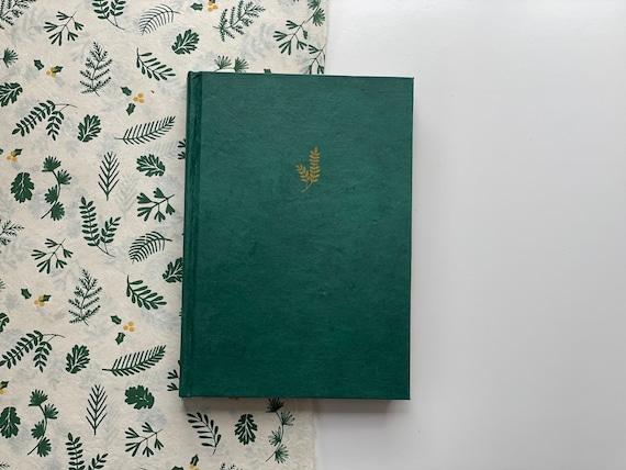 Handmade Paper Journal | Emerald Green