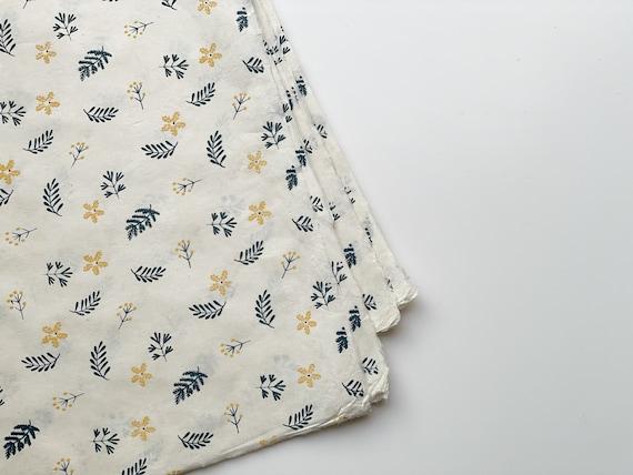 Gift wrapping paper (2 sheets) | Nagarjun - Indigo Blue on Beige