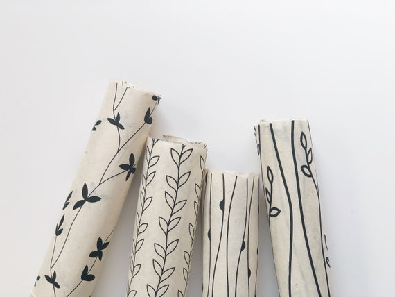 Gift wrapping paper set (4 sheets) | Botanicals
