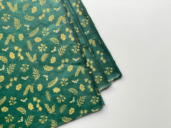 Gift wrapping paper (2 sheets) | Nagarjun - Emerald Green