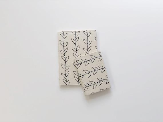 Handmade paper notebooks (2 books) | Botanicals D2