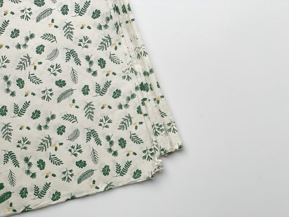 Gift wrapping paper (2 sheets) | Nagarjun - Emerald Green on Beige