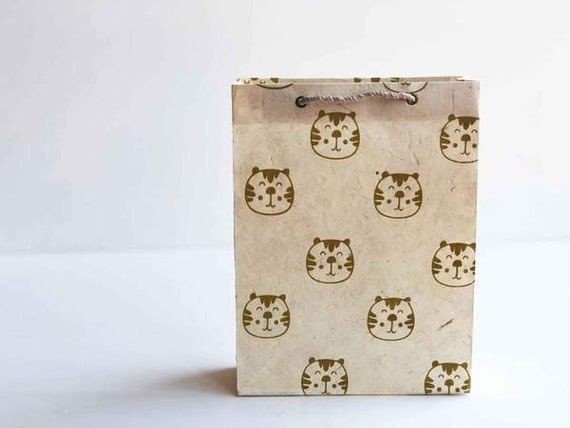 Animal theme Gift bag (2 bags) | Mcalister, The Tiger |lolly bag, party favour