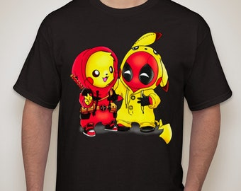 68d6e7425 Deadpool and Pikachu mashup shirt - Deadpool shirt -Pikapool shirt, Pokemon  Charizard shirt, Deadpool tshirt, Anime shirt, Birthday Gift