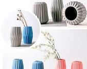 Geometric Ceramic Vase, Mini Ikebana Vases, Flower Vase, Dried Flower Arrangement, Flower Decor, Bud Vase, Candle Holder, Office Decor