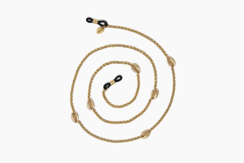 glasses holder sunglasses strap SEYCHELLES glasses chain soleash\u00ae eyeglass chain 18K Gold Plated mask chain Handmade
