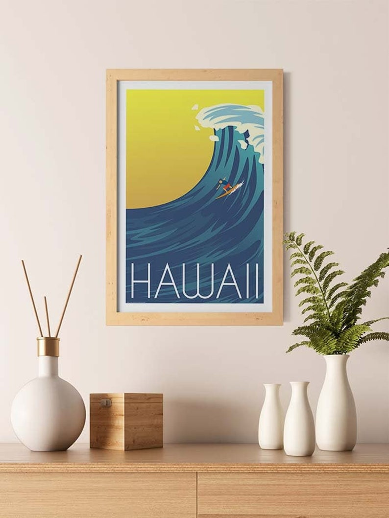 Vintage Hawaii Travel Print
