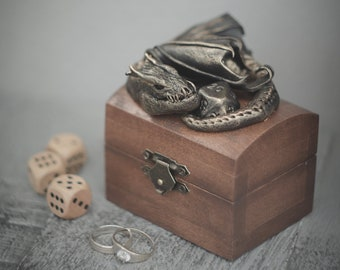 Dragon Box Purple dragon Wooden Box celtic dragon box nordic design Fantasy dragon box Dragon lover gift Gift for him Mother of dragons gift