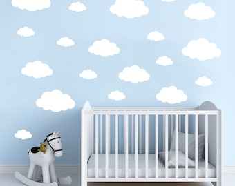 Cloud Wall Decal Etsy