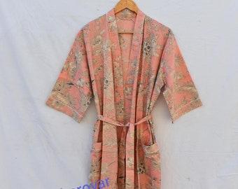 Best Selling Floral Print Indian Kimono Kimono Robe Kimono Cardigan Nights costume Body Coverups Japanese Kimono Bath Robes womens