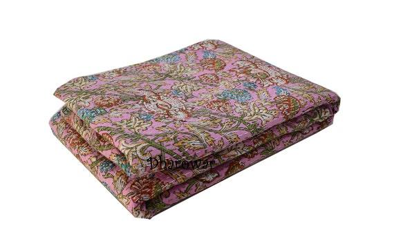 Antique Vintage Kantha Quilt Indian Bed Spreads Embroidered Blanket