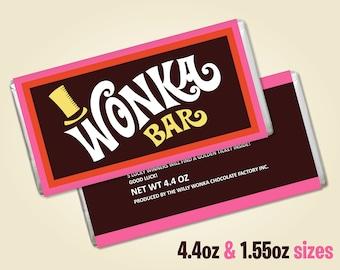 picture regarding Wonka Bar Printable titled Printable wonka bar Etsy